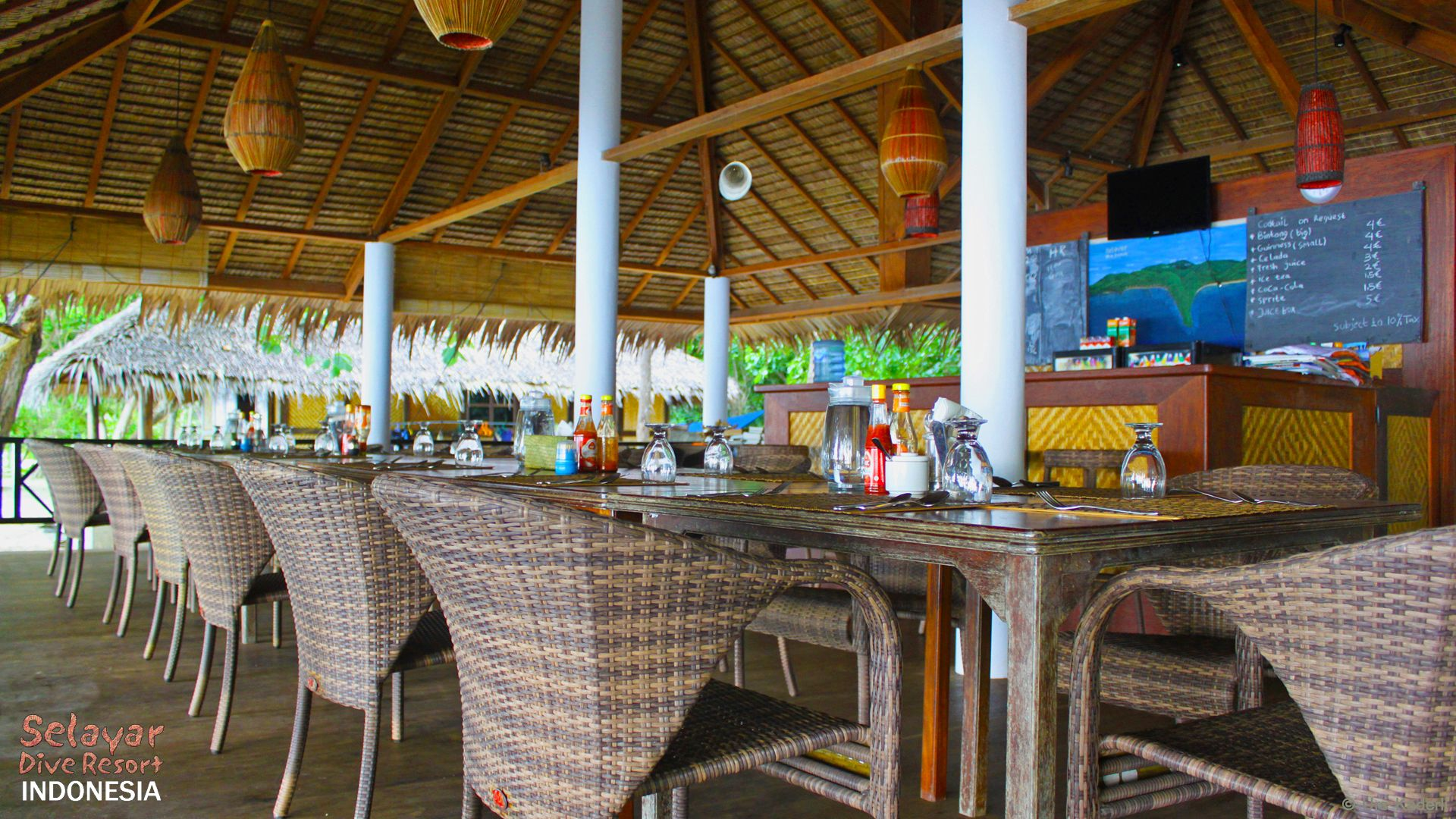 Restaurant Sulawesi Eco Resort Indonesien